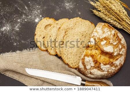 Zdjęcia stock: Kulinarny · nóż · serwetka · górę · widoku · kuchnia