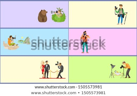 Paparazzi and Still Life Photographer Web Banners Foto stock © robuart