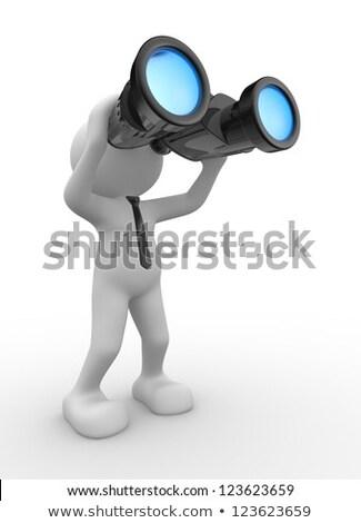 3d character with binoculars Stock photo © andreasberheide