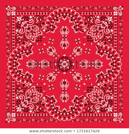 vector ornament bandana print traditional ornamental ethnic pattern with paisley and flowers silk stock photo © sanyal