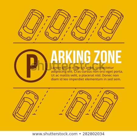 Rows with private parking spaces Stock photo © magraphics