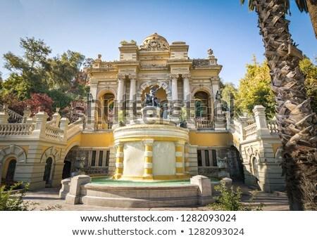 Fountain of Neptune in Cerro de Santa Lucia, in the downtown of  Stock photo © boggy