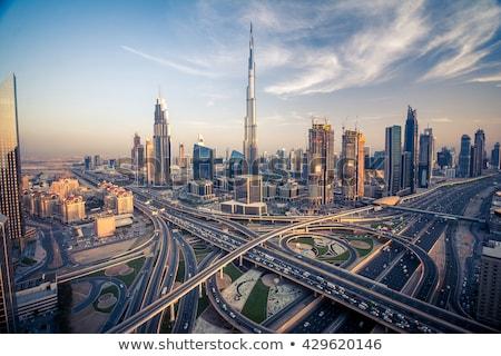Dubai skyline kleur gebouwen blauwe hemel Stockfoto © ShustrikS