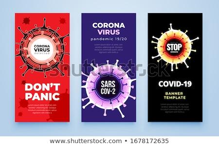 SARS CoV-2 Virus. Banner, Vector. Stock photo © tashatuvango