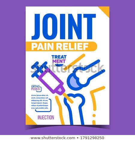 Schmerzen Erleichterung Injektion werben Plakat Vektor Stock foto © pikepicture