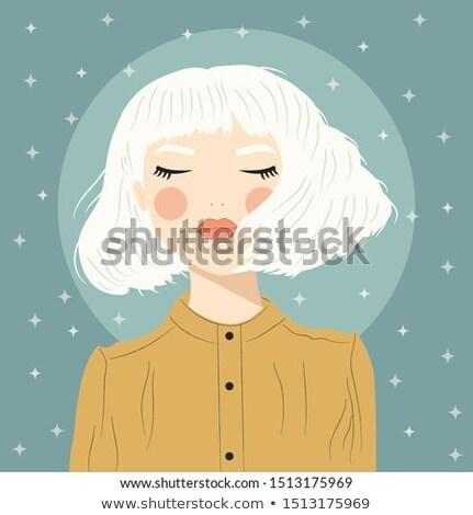 starry-eyed model Stock photo © zastavkin