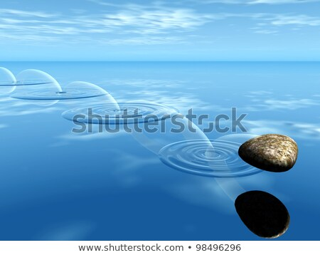 Ricochets Of A Stone On Water Сток-фото © njaj