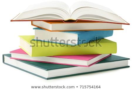 Boeken geïsoleerd witte school groene Stockfoto © rufous