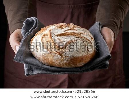 Taze ekmek tablo bez Stok fotoğraf © stevemc