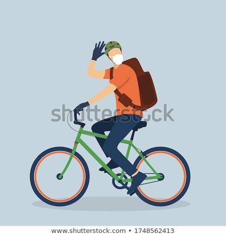велосипедист · городского · дороги · город - Сток-фото © photography33