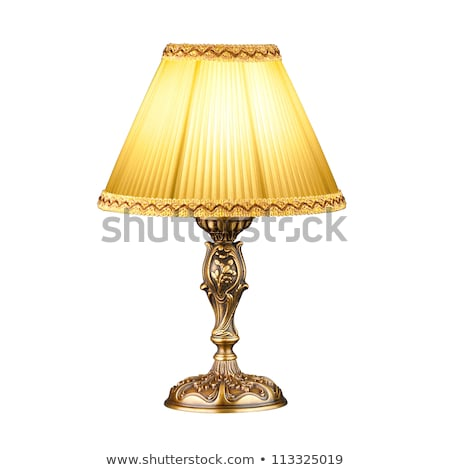 Klasszikus asztal lámpa izolált fehér fény Stock fotó © pinkblue
