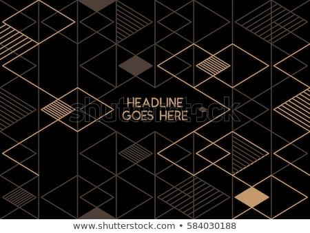 прямоугольный аннотация шаблон вектора искусства иллюстрация Сток-фото © robertosch