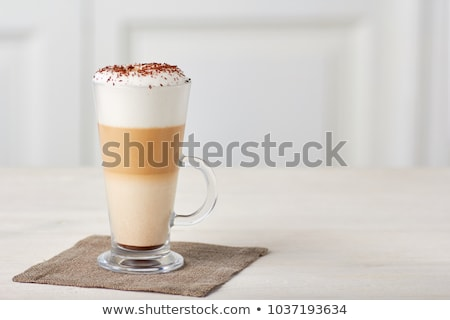 Frappe on a cafe table Stock photo © ElinaManninen