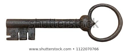 ヴィンテージ · キー · 影 · アンティーク · ドアの鍵 · グレー - ストックフォト © badmanproduction
