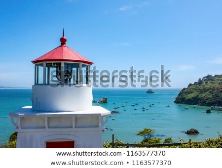 Trinidad bay memorial lighthouseand harbor, California Stock photo © snyfer