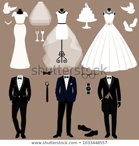 Wedding vestiti illustrazione cuore Coppia vita Foto d'archivio © adrenalina