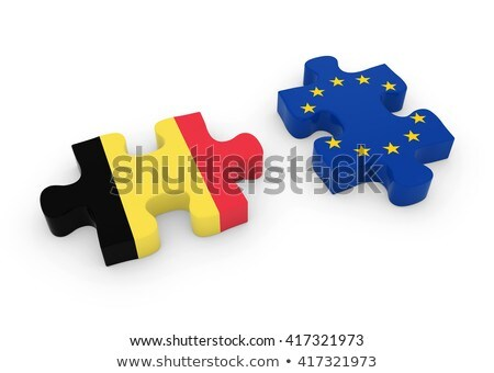 Belgian Flag in puzzle isolated on white background Stock photo © Istanbul2009