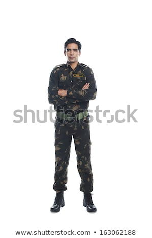 Full length studio shot of military personnel Stock photo © stockyimages