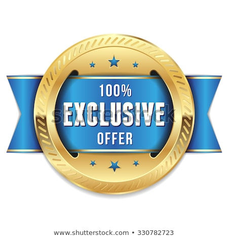 exclusive offer blue vector icon button stock photo © rizwanali3d