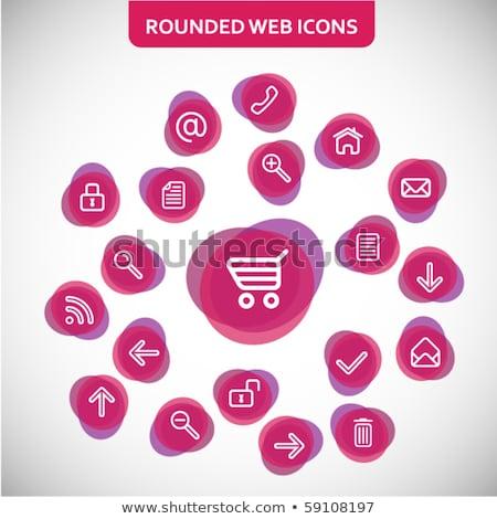 Biztonságos tranzakció lila vektor ikon gomb Stock fotó © rizwanali3d