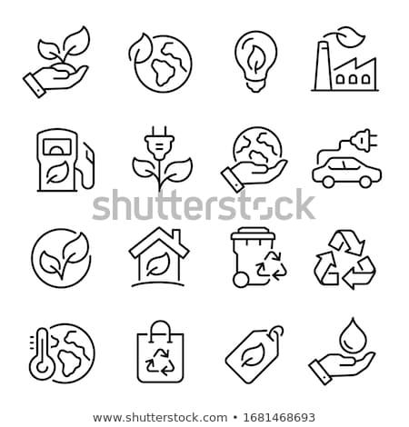 Védett felirat zöld vektor ikon terv Stock fotó © rizwanali3d