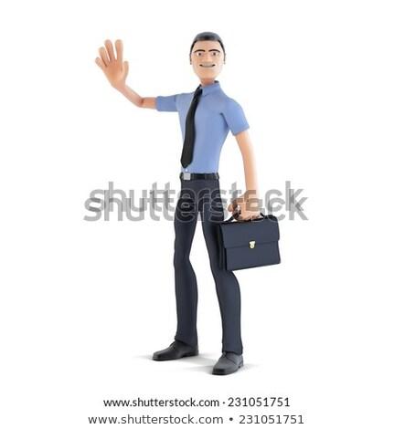 3D · imprenditore · benvenuto · illustrazione · 3d · felice · persona - foto d'archivio © kirill_m