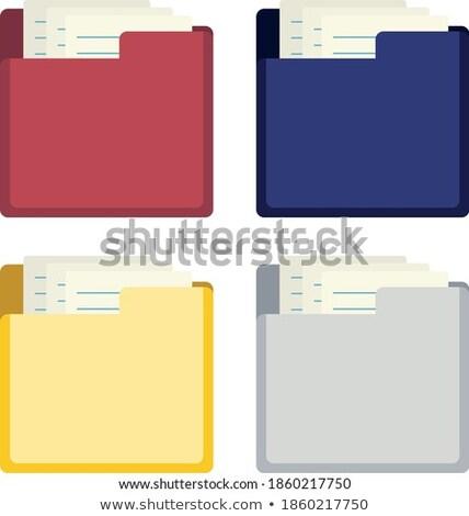 courriel · icône · orange · bleu · lettre · communication - photo stock © rizwanali3d