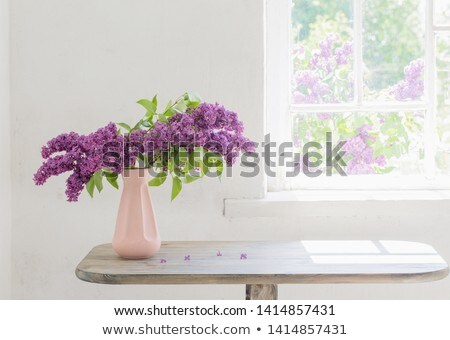 Beautiful Bunch of Lilac in the Vase Stock photo © tetkoren