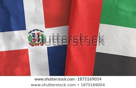 Объединенные Арабские Эмираты Доминиканская Республика флагами головоломки изолированный белый Сток-фото © Istanbul2009