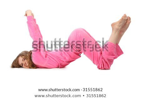 Girl in pink clothes represents  letter w stock photo © Paha_L