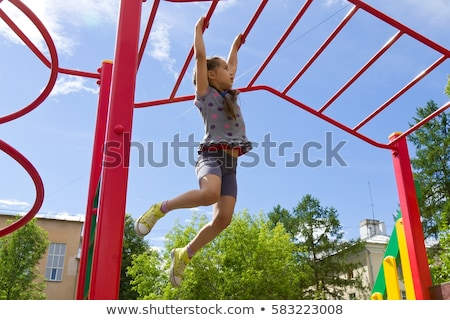 Portrait of the girl on a playground with a toy Stock photo © Paha_L