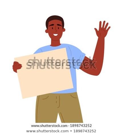 Homme vide main jeunes Photo stock © nito