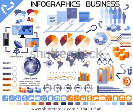 Infographic with people and piechart Stock photo © bluering