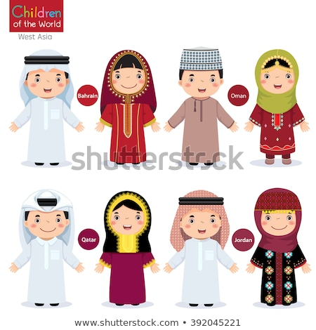 Boy and girl in Qatar costume Stock photo © bluering