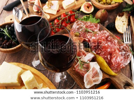 cheese,salami and snacks Stock photo © M-studio