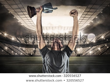 画像 ラグビー プレーヤー トロフィー ストックフォト © wavebreak_media