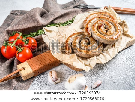 grillés · spirale · porc · saucisses · romarin - photo stock © Illia