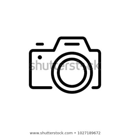 Fotoğrafçılık sohbet imzalamak simge kamera ikon Stok fotoğraf © vector1st