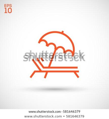 guarda-sol · ícone · viajar · férias · símbolo · moderno - foto stock © angelp