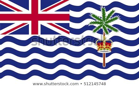 Zászló brit indiai óceán terület száraz Stock fotó © grafvision