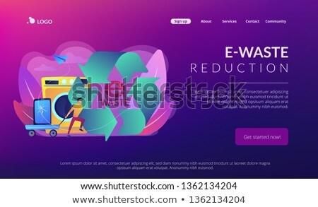 e waste reduction concept landing page stock photo © rastudio