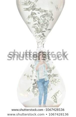Para kadın telefonu içinde kum saati dijital bileşik Stok fotoğraf © wavebreak_media