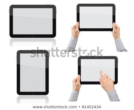 Stockfoto: Zakenman · handen · objecten · business · ingesteld