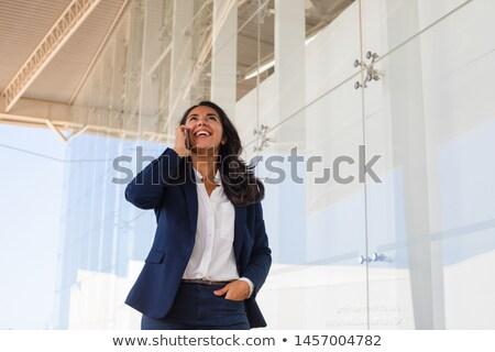 表示 かなり 小さな 女性実業家 携帯電話 ストックフォト © wavebreak_media