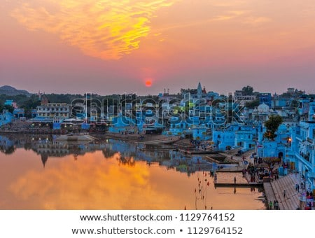 Pushkar is a town in the Ajmer district in the Indian state of R Stock photo © cookelma
