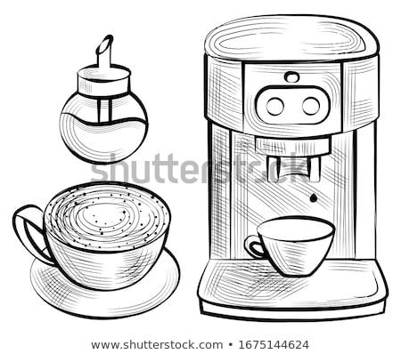 Java and Sugar-bowl, Coffee Machine, Mug Vector Stock photo © robuart