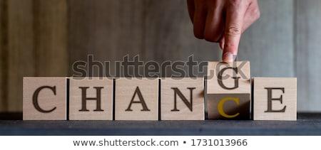 Change Concept Vintage Wooden Letterpress Type Word Stock photo © enterlinedesign