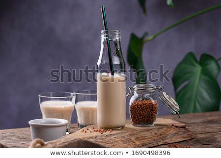 Lactose livre leite planta comida vidro Foto stock © furmanphoto