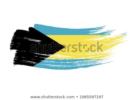 Bahamák zászló fehér felirat utazás vidék Stock fotó © butenkow