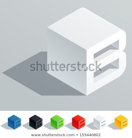 Blanche cube pixel police lettre 3D Photo stock © djmilic